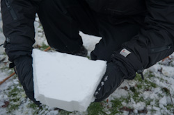 Snow brick wedge shape